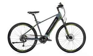 Elektro bicykel Leader Fox Exeter sivý 2019